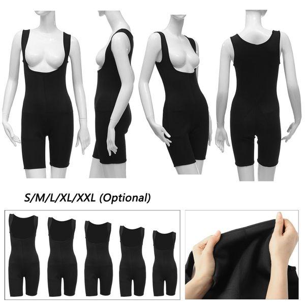 Mulheres Neoprene Shapewear Full Body Shaper Ultra Suor Perda de Peso Yoga Correndo Colete Bodysuit Sauna Terno