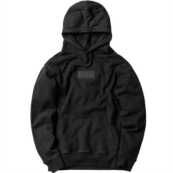 Kith hommes femmes hoodies lâches streetwear occasionnels kanye ouest peur de dieu harajuku boîte logo tops hip hop casual sweats à capuche