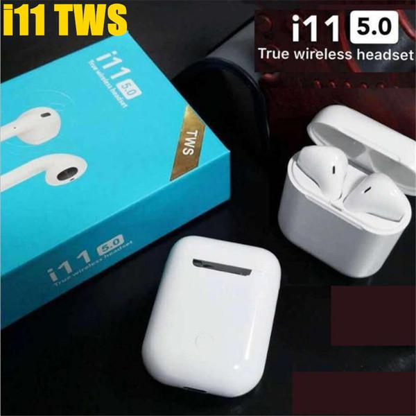 I11 tws Mini-Bluetooth-Kopfhörer Drahtloser Bass-Ohrhörer Bluetooth 5.0 Doppelkopfhörer True Stereo mit Ladebox Mic PK i10 i12