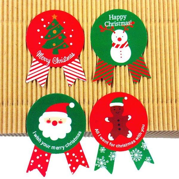 400pcs Vintage Christmas Theme series Insignia Diseño DIY Multifunción Sello Etiqueta Etiqueta de regalo al por mayor