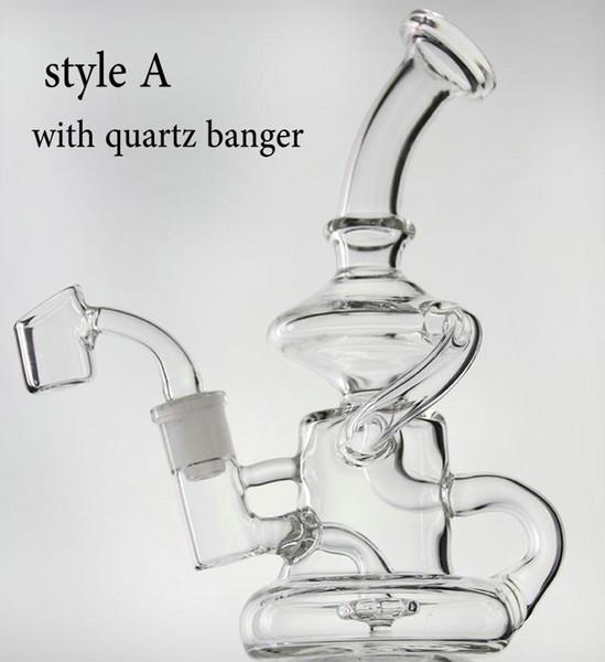 estilo A: com unha de quartzo banger