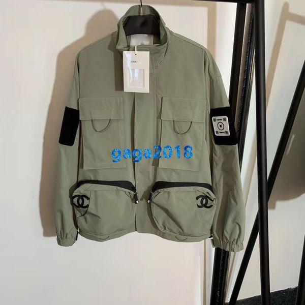 High end women girl over ize bomber jacket patchwork letter print zip long leeve coat milano fa hion de ign outerwear weat hirt top, Black;brown