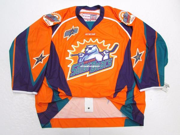 Günstige benutzerdefinierte 2015 ECHL ALL STAR SPIEL ORLANDO SOLARBÄREN CCM JERSEY Stich hinzufügen beliebige Anzahl beliebige Namen Herren Hockey Jersey XS-6XL