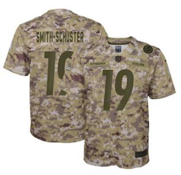 on sale d7995 3fff1 2019 2019 Custom Pittsburgh TJ Watt Steelers Jersey JuJu Smith Schuster  Antonio Brown Salute To Service Vapor Authentic Super Bowl LIII Jerseys  From ...