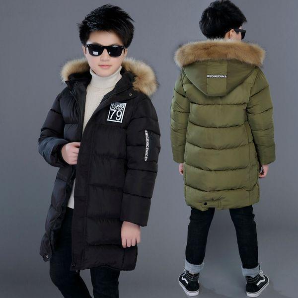 best selling Winter Thicken Windproof Warm Kids Coat Waterproof Children Outerwear Cotton Filler Heavyweight Boys Jackets For 4-14 Years Old