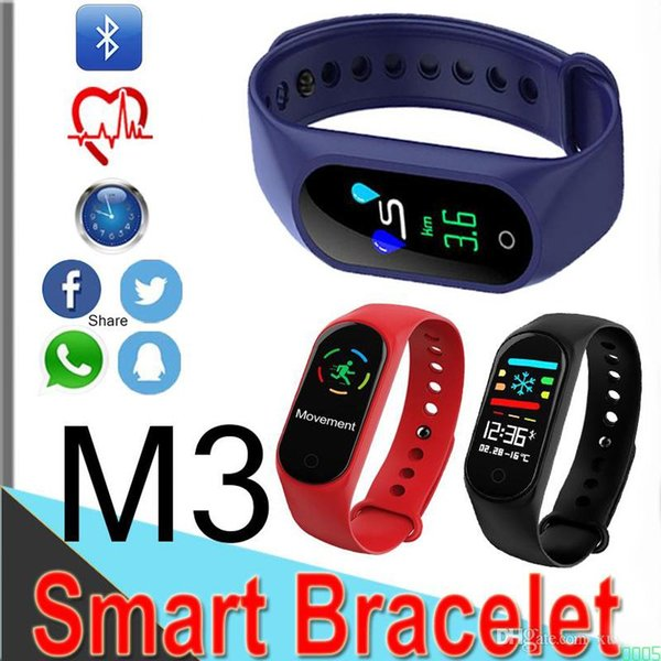 New M3 color screen smart watch bracelet heart rate Band monitoring Bluetooth call reminder sports watch for Android 0005