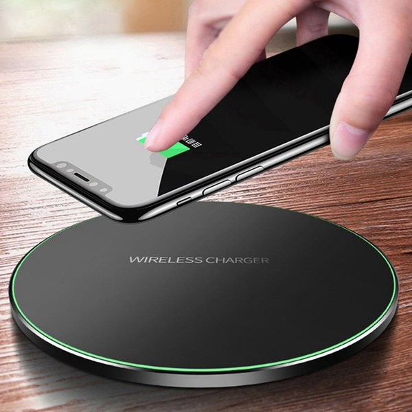 10W 9V Fast QI Wireless Charger for iPhone X XS XS MAX XR Samsung s9 s9Plus Note Wireless Charging Pad with LED Light