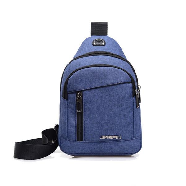 New Male Chest Bag Fashion Waterproof Man Oxford Cloth Korea Style Messenger Shoulder Bag For Teenager Bag LJJS304