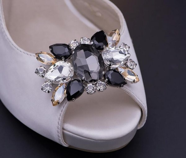 Bling Bling Crystal Rhinestones Shoe Clips Buckles Decorations for Womens