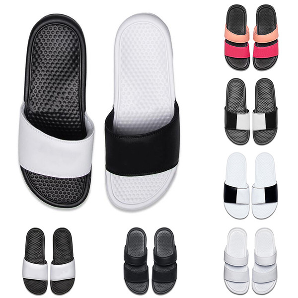 A buon mercato uomo donna designer BENASSI ultra pantofole nero bianco rosa per la spiaggia estate hotel doccia coperta antiscivolo mens sandali taglia 36-45