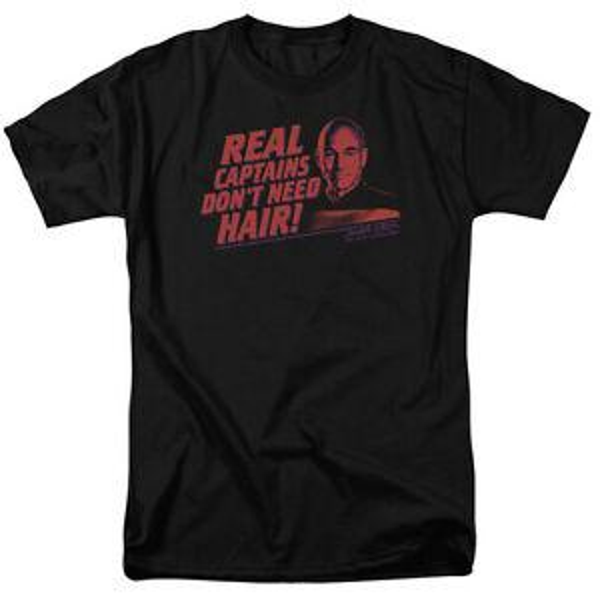 Star Trek TNG Picard REAL CAPITAINES DON T-shirt BESOIN DE CHEVEUX Toutes Tailles