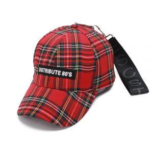 f2c8f69caf4d5 Red Plaid Letter Baseball Cap Tide Duck Tongue Hat Adjustable Hip Hop Hats  Spring New fashion LJJP168