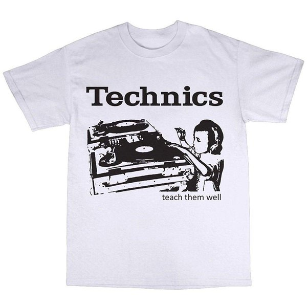 SL-1210 DJ Decks T-Shirt 100% Algodão Clássico de Algodão Homens Gola Redonda de Manga Curta Top Tee Em Torno Do Pescoço Roupas T Shirt