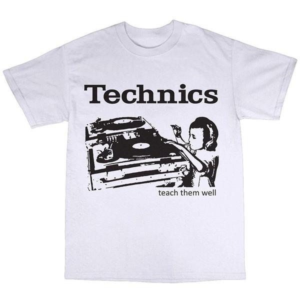 SL-1210 DJ Decks Camiseta 100% algodón Hombres de algodón clásico Cuello redondo Camiseta de manga corta Camiseta de cuello redondo Camiseta