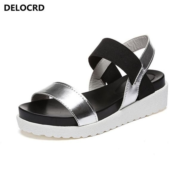 2018 Summer Sandals For Women New Shoes Peep-toe Sandalias Flat Shoes Roman Sandals Woman Mujer Ladies Flip Flops Footwear #11974