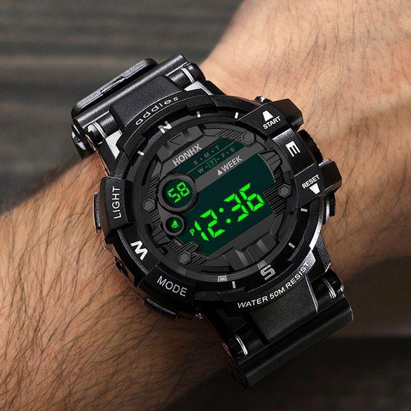 Hot Men Watches Digital LED Luxury Life WaterProof Sport Watches Silicone Clock Watch relogio masculino reloj digital hombre CC