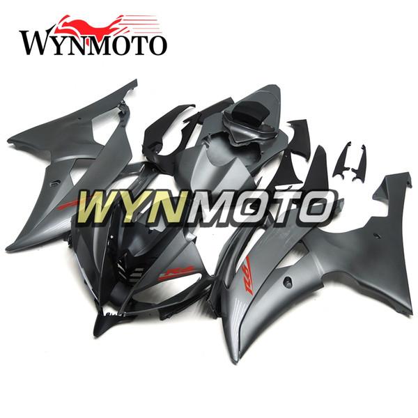 Полный обтекатель мотоцикла для Yamaha YZF 600 R6 2008 - 2016 09 10 11 12 13 14 15 АБС-пластик инжекционный мотоцикл плоский черный новые капоты