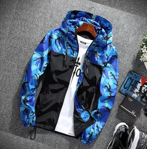 jackets men camo jacket windbreaker jaqueta masculina mens camouflage jackets rs-256, Black;brown