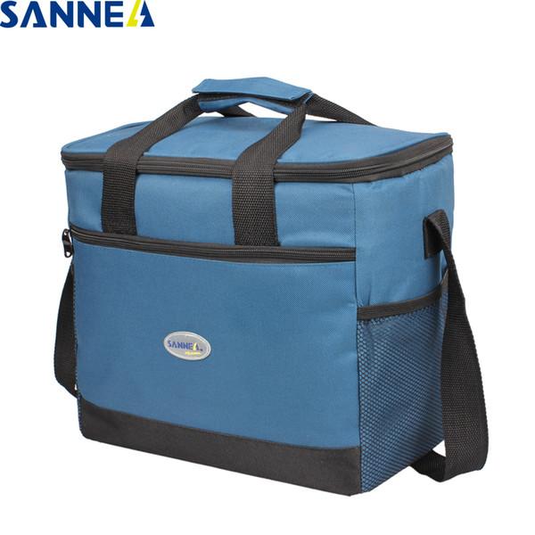 SANNE 16L gran capacidad térmica de picnic asas de almacenamiento de alimentos en un bolso más fresco para la familia aislamiento refrigerador del hielo Bolsas para los hombres de las mujeres al aire libre SH190923