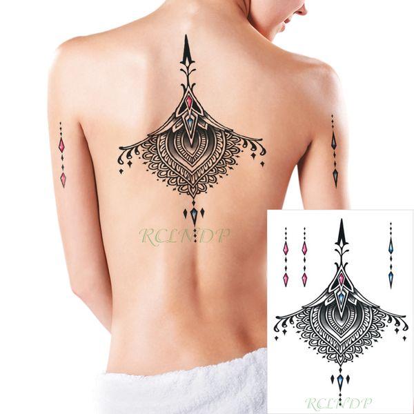 Tatuaje Temporal A Prueba De Agua Pegatina Diamante Datura Flor En La Pierna Brazo Espalda Tattos Flash Tatoo Tatuajes Falsos Para Niña Hombres