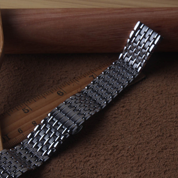 Stainless steel silver Watchband Accessories Quartz watch straps Watch band Bracelet 14mm 16mm 18mm 20mm For  fast delivery