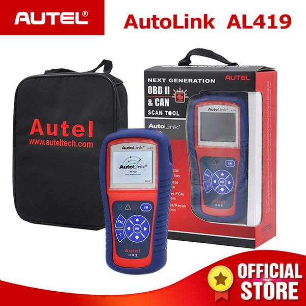 Autel Autolink AL419 OBDII CAN Scan Tool with TFT Color Screen Code Reader Troubleshooter tips Auto diagnostic