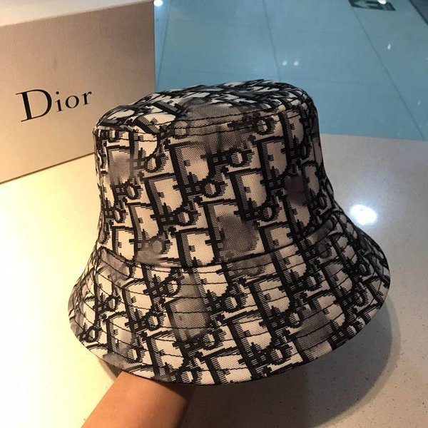 Fashionable luxury fisherman hat designer hat luxury casual hat fashion logo canvas making fashion hardware classic embroidery 135