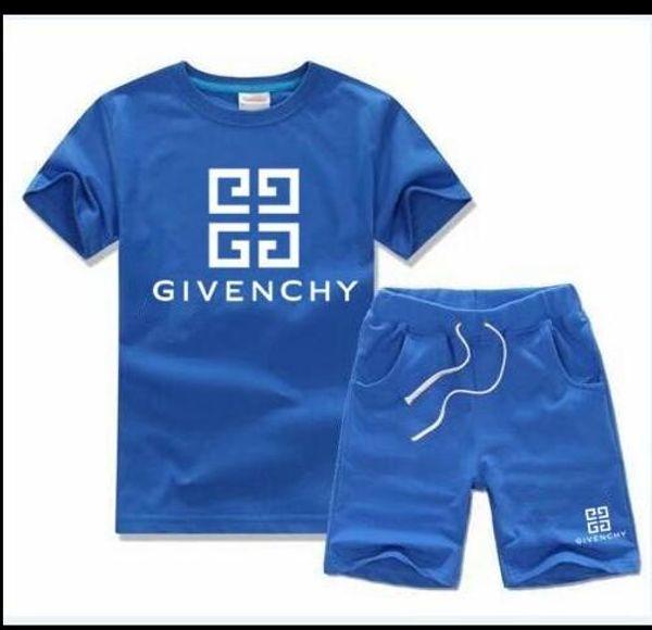 Marka Çocuk Çocuk Tişört Ve Şort Pantolon Çocuk eşofman Çocuk Spor Suit 2 Adet Kısa Kollu Ücretsiz nakliye ayarlar