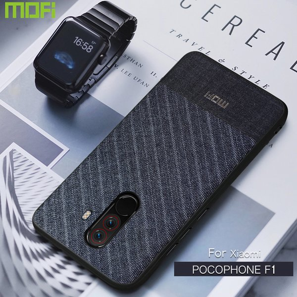Poco F1 Case For Xiaomi Pocophone F1 Case Back Cover Business Suit Cloth Style Fabrics Mofi For Xiaomi Poco F1 Case Pocophonef1