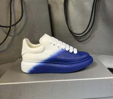 Lüks Tasarımcı Marka Beyaz Siyah Degrade renk Deri Rahat Ayakkabılar Kız Kadın Erkek Pembe Altın Kırmızı Rahat Düz ayakkabı Sneakers 81