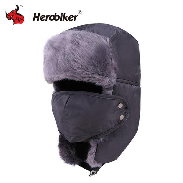 Men Winter Trooper Hat Camo Hunting Ushanka Snow Earflap Cap Windproof Mask