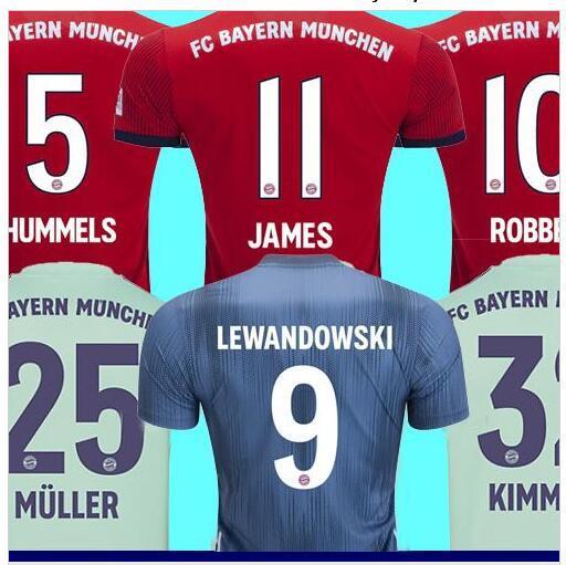 half off 240ef 95eea 2019 Top Thailand Bayern Munich JAMES RODRIGUEZ Soccer Jersey 2018 2019  LEWANDOWSKI MULLER KIMMICH Jersey 18 19 HUMMELS Football Shirt From  Jerseykit, ...