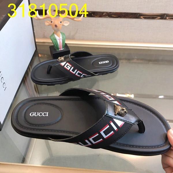 2019 verão de moda de nova dos homens chinelos sandálias casuais requintado chinelos para homens carta impressão