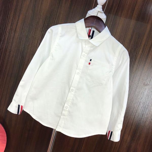 Camisas para niños ropa de diseñador para niños otoño nueva camisa para niños y niñas blusa diseño de color sólido camisas de estilo simple