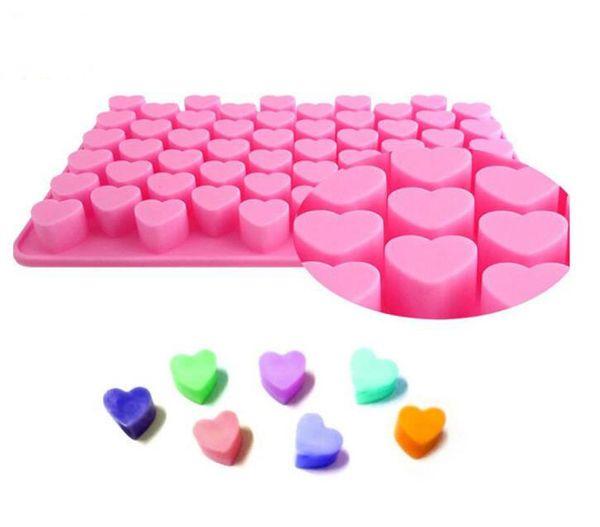 Fábrica de atacado 18 .5 * 11 * 1. 4 cm em forma de coração biscoitos de chocolate gelo bandeja de molde de silicone fabricante de bolo diy ice mold diy molde de gelo bolo rosa