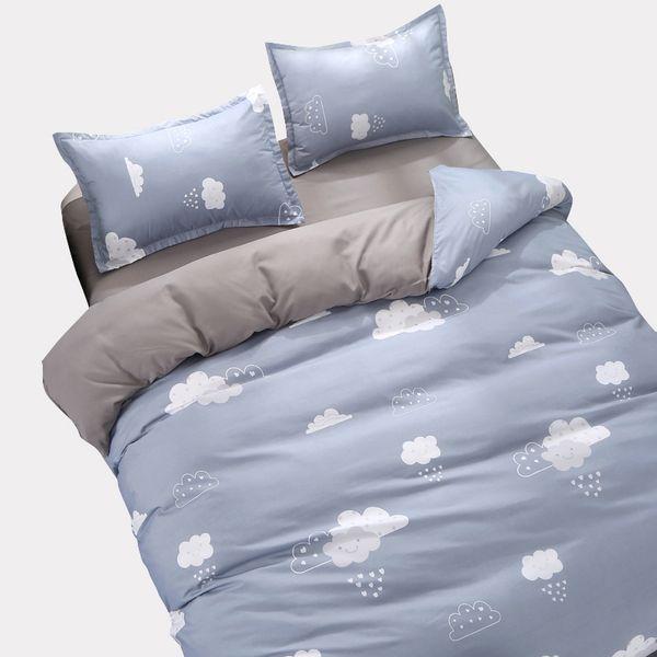 Custom Bedding Sets King Single Size Quilt Duvet Cover Set,4PCS Set Duvet cover Bed Sheet Pillowcase,Bed Set Bedclothes Clouds