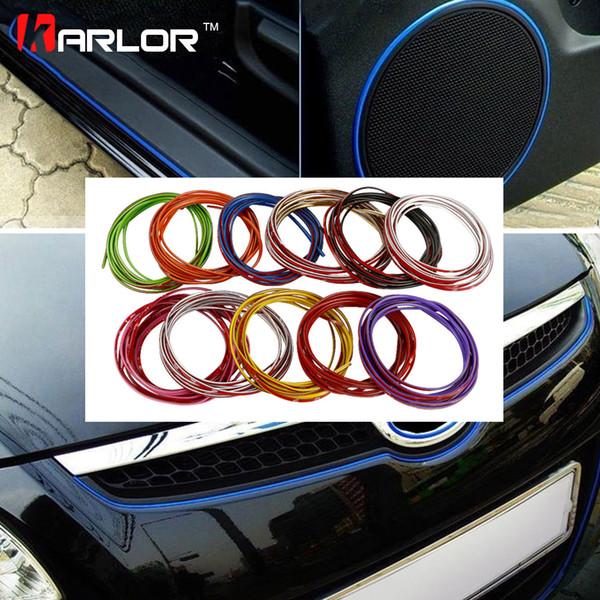 Acessórios xterior Stickers 5 Metros Decoração Auto 3M adesivo de carro Tópico pater interior Exterior Interior de carro Modificar corpo Decal Faixa de D ...