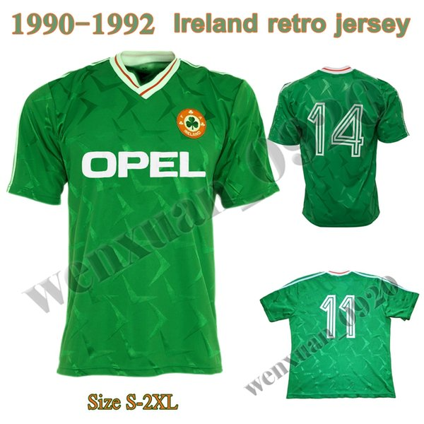 2019 1990 1992 Ireland Retro Soccer Jersey 1990 World Cup Ireland Home  Classic Jersey 90 92 Vintage Irish Sheedy Size S XXL Football Shirts From  ... bfdb2f3d8