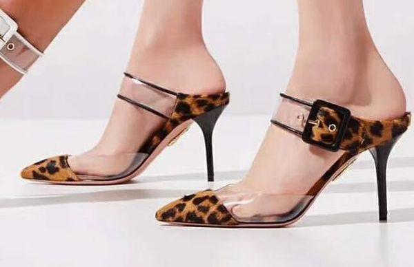 Sexy Chaussures À Talons Hauts Femmes Sandales 2019 Femmes Soirée Chaussures De Soirée À Talons Hauts Femmes Stiletto Léopard Imprimé Classique Chaussures De Mariage De Star