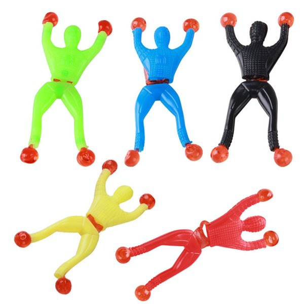 Climbing Spider Man Sticky Climb Wall Superman Nostalgic Toys for Children Kids Magic Toys Free Shipping