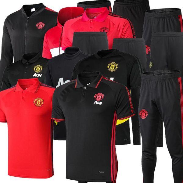 Tuta manchester POGBA 2019 Survetement UNITED 19 20 ALEXIS RASHFORD kit jogging da calcio tuta allenamento 2020 UTD Soccer Chandal