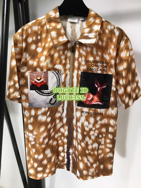 Luxury Design Lettre Cerfs coton imprimé Blouses femmes Mode Chemises à manches longues La haute qualité Personnaliser Filles Chemises Pull de piste