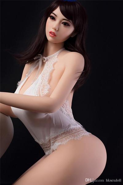 Nuevo diseño de calidad superior 170 cm muñeca sexual gorda muñeca de silicona muñecas sexuales 6y 19a cabeza juguetes sexuales para hombres