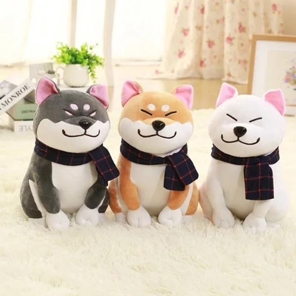 Cute Animal Cartoon Pillow 25cm Lovely Corgi Dog Plush Toy Stuffed Soft Christmas Gift for Kids Kawaii Valentine Present#281619