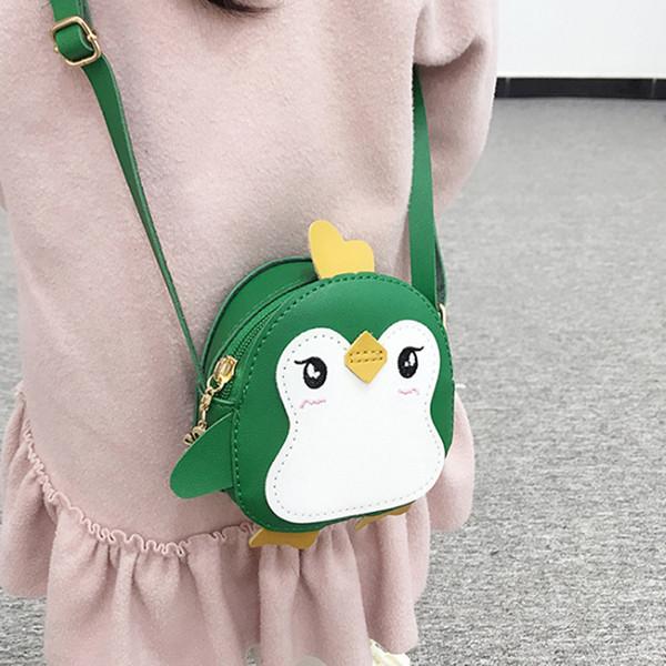 Пингвин форма животных плечо сцепления дети девушки кроссбоди кожаные мини-сумки искусственная кожа мини-цепи сумки посыльного