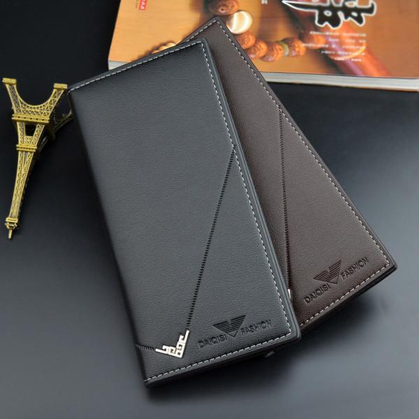 Business Männer Brieftasche Marke Berühmte Herren Leder Lange Brieftasche Kupplung Männlichen Geldbörse ID Kartenhalter 2019 Coole Brieftaschen