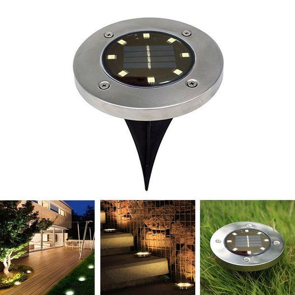 BRELONG 8LED Lampe de pelouse extérieure éclairée solaire 1PCS