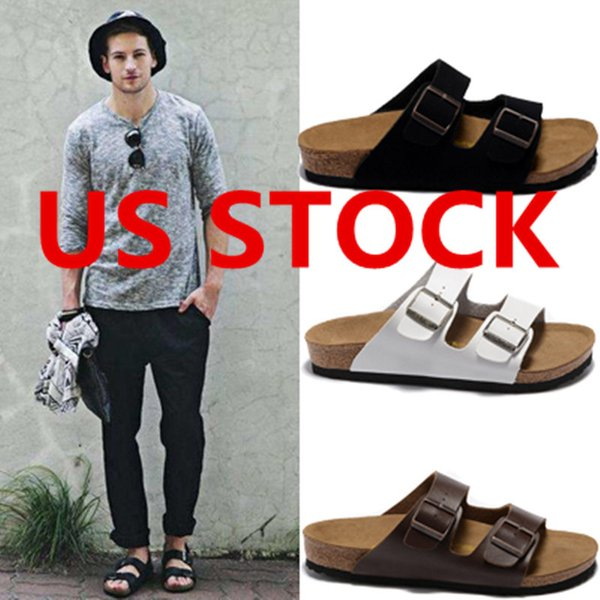 best selling US STOCK, Arizona 2020 New Summer Beach Cork Slipper Flip Flops Sandals Women Mixed Color Casual Slides Shoes Flat Free Shipping 36-46 fy906
