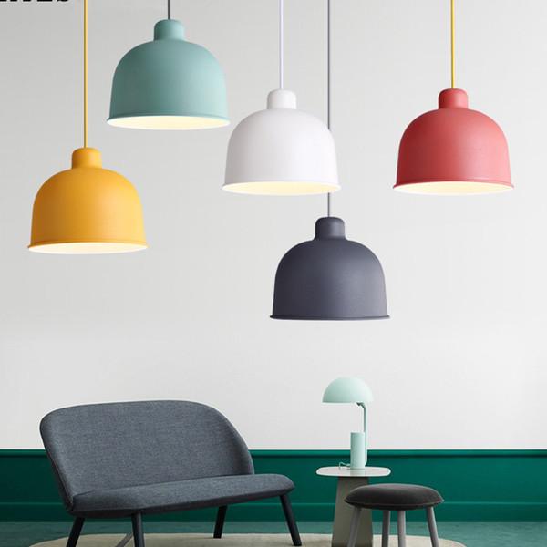 Moderne minimalistische Farbe Topf Aluminium Pendelleuchte einzigen Kopf Restaurant Lampe kreative Persönlichkeit Studie Schlafzimmer Lampe