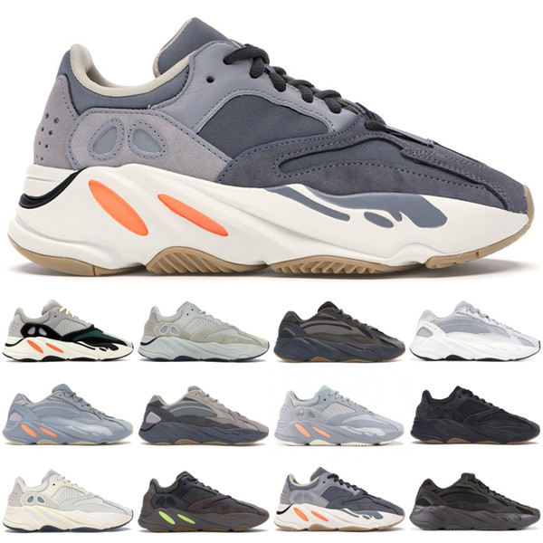 best selling Kanye West 700 Mens Womens Shoes StockX Hospital Blue Magnet Inertia V2 Tephra Wave Runner Static Black Geode Designer Sneaker Running shoes